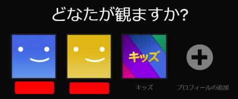Netflixのプロフィール
