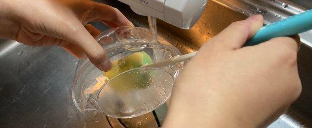 タンクの水洗い